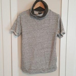 Gray Short sleeve casual shirt